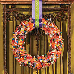 Trick-or-Treat Candy Wreath