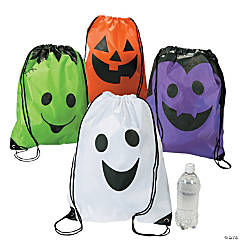 Trick-Or-Treat Drawstring Backpacks