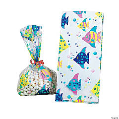Tropical Fish Cellophane Bags