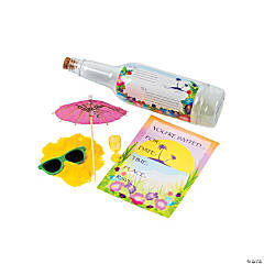 Tropical Invitations in A Bottle