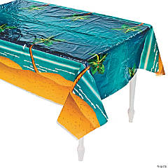 Tropical Palm Tree Plastic Tablecloth