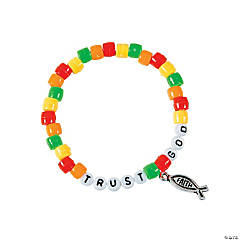 """Trust God"" Pony Bead Bracelet Craft Kit"