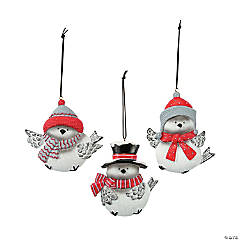 Tumbling Chickadee Ornaments