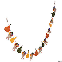 Turkey & Gourds Layered Garland