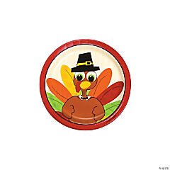 Turkey Fun Dessert Plates