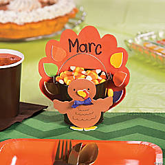 Turkey Place Card & Favor Holder Kids Craft Idea