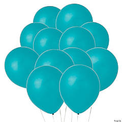 "Turquoise 11"" Latex Balloons"