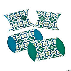 Turquoise & Blue Print Pillow Boxes