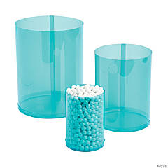 Turquoise Candy Buffet Cylinders
