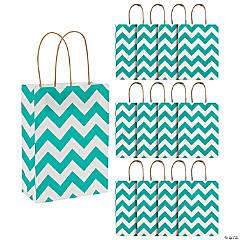 Turquoise Chevron Gift Bags