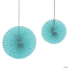 Turquoise Chevron Hanging Fans