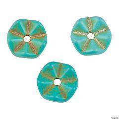Turquoise Chevron Stone Beads - 10mm