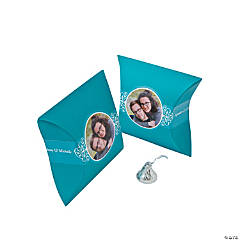 Turquoise Custom Photo Pillow Boxes