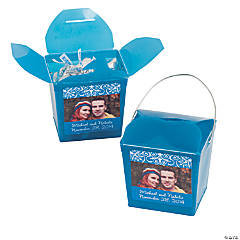Turquoise Custom Photo Take Out Boxes