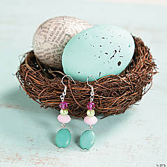 Turquoise Easter Egg Earrings Idea