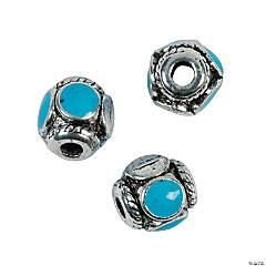 Turquoise Enamel Beads - 9mm