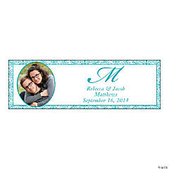 Turquoise Flourish Small Custom Photo Banner