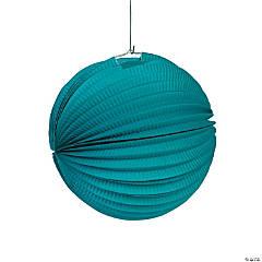 """Turquoise Hanging Paper Lanterns - 10"""""""