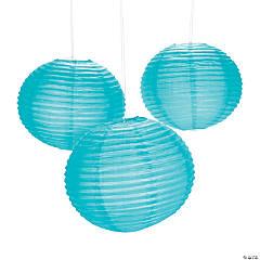 Turquoise Hanging Paper Lanterns