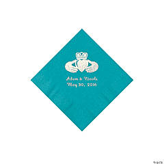 Turquoise Irish Personalized Napkins - Beverage