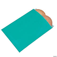Turquoise Parchment Bags