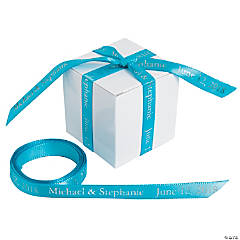 Turquoise Personalized Ribbon - 3/8""