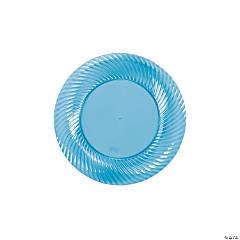 Turquoise Plastic Dessert Plates
