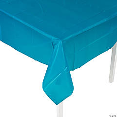 Turquoise Plastic Tablecloth