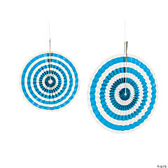 Turquoise Stripe Hanging Fans