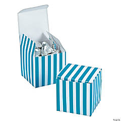 Turquoise Striped Gift Boxes