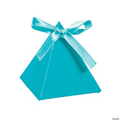Turquoise Triangle Favor Boxes