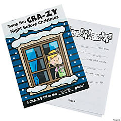 Twas the Cra-zy Night Before Christmas Story Activity Books