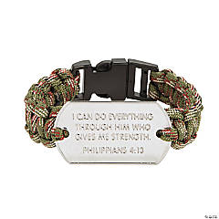 Tween Faith Dog Tag Paracord Bracelets