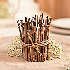 Twig-Wrapped Candle Idea