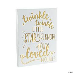 Twinkle Twinkle Little Star Sign