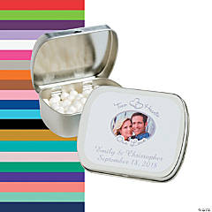 Two Hearts Custom Photo Mint Tins