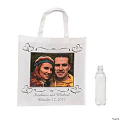 Two Hearts Custom Photo Tote