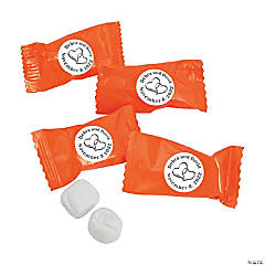 Two Hearts Personalized Buttermints - Orange
