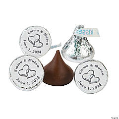 Two Hearts Personalized Stickers For Hershey's® Kisses®