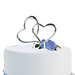 Two Hearts Wedding Cake Pick