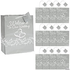 "Two Hearts ""Welcome To Our Wedding"" Gift Bags"