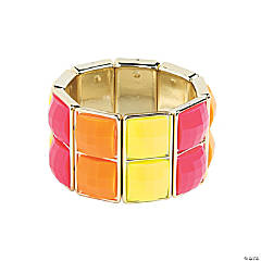 Two Square Neon Bracelet Craft Kit