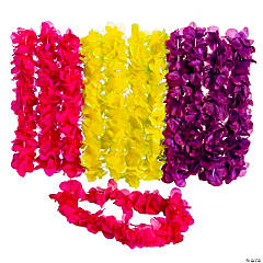 Two-Tone Large Floral Leis