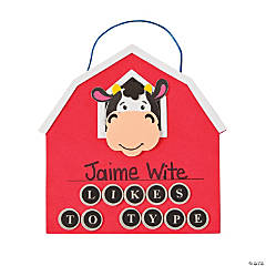 Typing Cow Sign Craft Kit