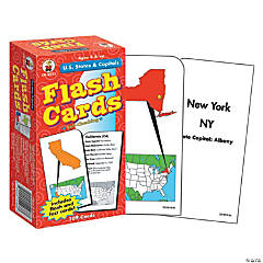 U.S. States & Capitals Flash Cards, 3 packs