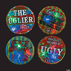Ugly Sweater Light-Up Badges