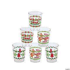 Ugly Sweater Plastic Shot Glasses