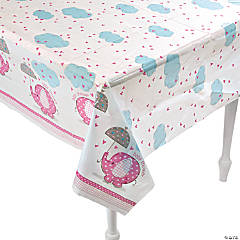 Umbrellaphants Pink Paper Tablecloth
