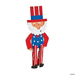 Uncle Sam Clothespin Craft Kit