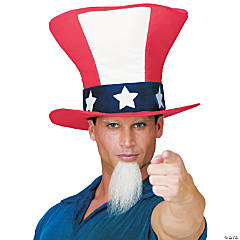 Uncle Sam Hat with Beard Adult Men's Costume